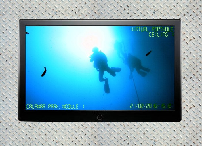 Virtual Porthole inside the Underwater Station